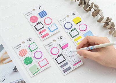 180 pages Planner Schedule Marker Memo Sticky Notes Bookmark Tab Post-it Journal