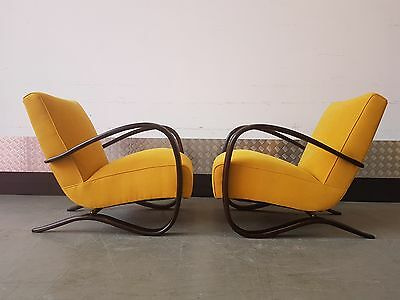 1 of 2 Jindrich Halabala Armchairs H-269 by Thonet, 1930s