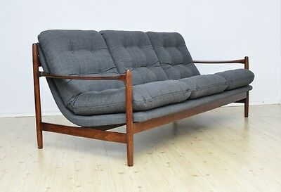 Vintage DANISH 3 Seat Sofa Design Mid Century Fully Restored