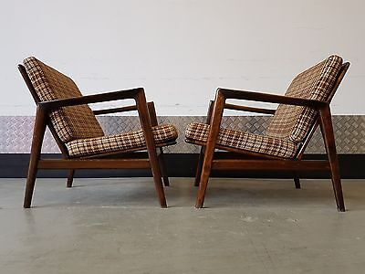 Set of 2 Scandinavian Armchairs 1960's