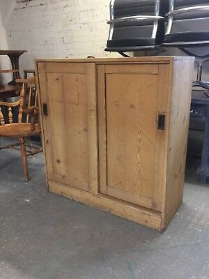 Reclaimed Stripped Pine Victorian Antique School Storage Kitchen Cupboard M2213