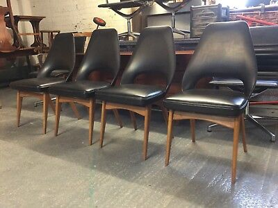 4 Rare 1960s Vintage Retro Mid Century Ben Chairs Oak Dining Chairs  M2219