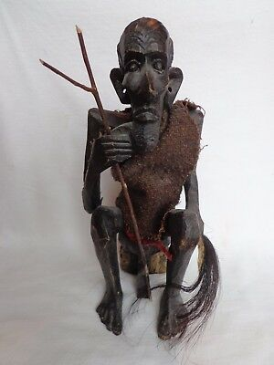 "Vintage Hand Carved African Tribal Figurine...11"" Tall...unique!"