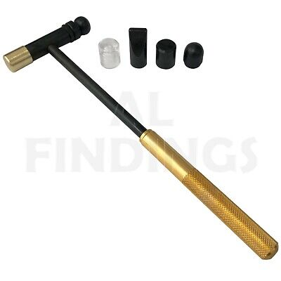 6 Precision hammer Rosegold interchangable heads jewellery watch repair tool