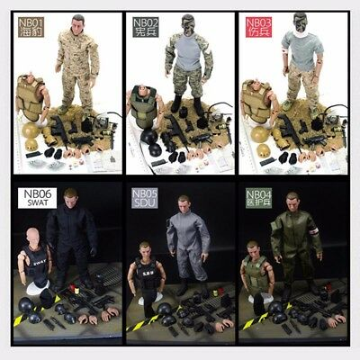 NB 1/6 30cm Uniform Military Army Combat Game Toys Soldier Set With Retail Box A