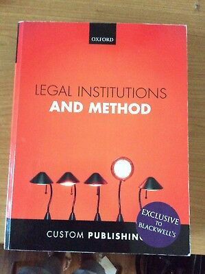 Legal Institutions And Method Custom Publishings Textbook
