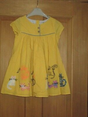 Girls Lovely Yellow Next Dress Age 12-18 Months