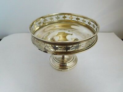 Very Nice Antique English Solid Silver Tazza / Comport - Levi & Salaman 1919