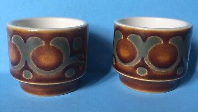 Superb Pair Of Hornsea Pottery Bronte Egg Cups - Nice!