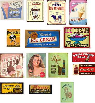 o scale building ice cream store decals