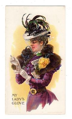 1897 FOSTER'S KID GLOVES Trade Card / Brochure BEAUTIFUL LADY Concord NH Dealer