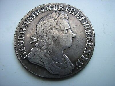 1723 Ssc Shilling, British Silver Coin,  George I