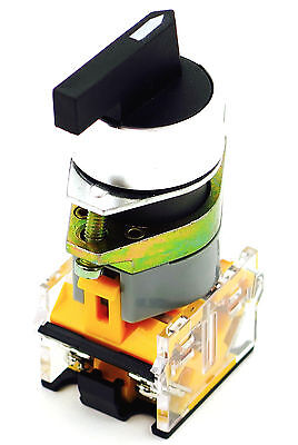 YC-SS22XPMO-2 22mm 2 POSITION MOMENTARY SELECTOR SWITCH 22MM METAL BASE . INCLU
