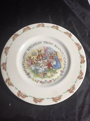 "Royal Doulton Bunnykns Happy Birthday From Bunnykins 8"" D"