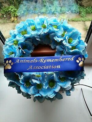 Animals-Remembered Association - Blue Poppy - War Animals - Remembrance Wreaths