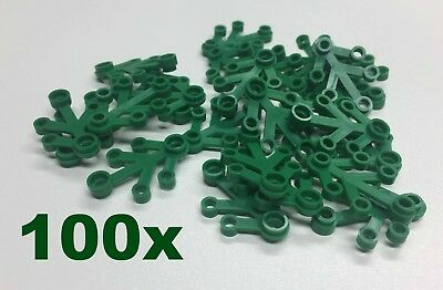100 pcs plant leaves 4x3 tree grass park - Bulk Lego Compatible Building parts