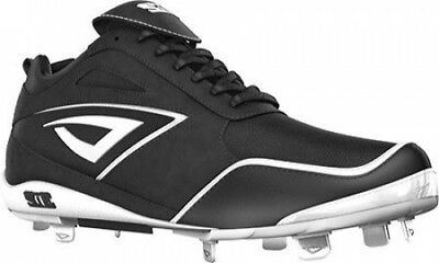 (7.5, Black/White) - 3N2 Women's Rally Metal Fastpitch. Free Delivery