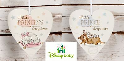 Disney Heart Plaque Little Prince/Princess Sleeps Here Baby Gift