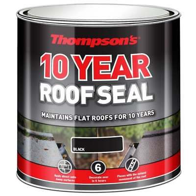 Thompsons Roof Seal 10 Year Weather Proof Roof Repair Rubber Paint Black