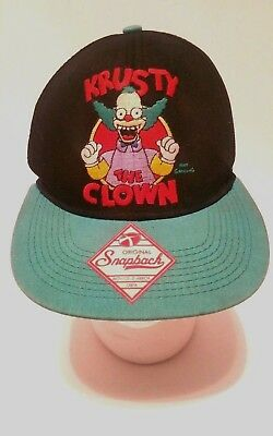 KRUSTY THE CLOWN baseball hat cap THE SIMPSONS boys kids fun TV show snap back