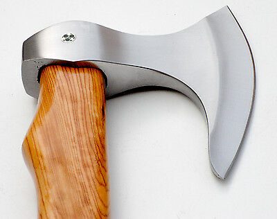 Custom Hand forged hammer  Olive Wood handle tomahawk
