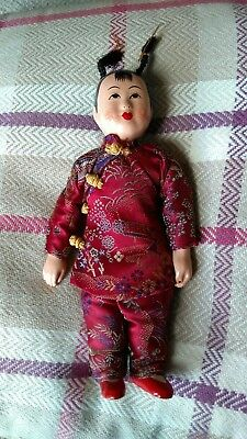 Vintage Hand Painted Chinese Doll