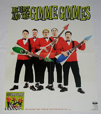 ME FIRST AND THE GIMME GIMMES Take a Break Poster (White) - Fat Wreck - RARE