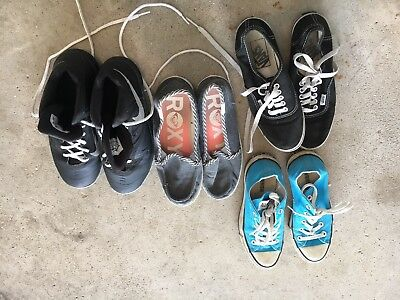 Lot of 5 Women Shoes Sneakers Size 5 and 5.5 Nike basketball converse roxy vans