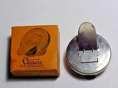 Vintage Stapure Milk Pouring Cap with Original Box and Gasket