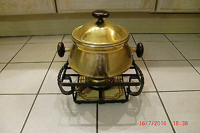 Fondue Set Royal von Beka Party Kult 70er Jahre Massiv Messing