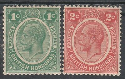 British Honduras 1922 Kgv 1C And 2C