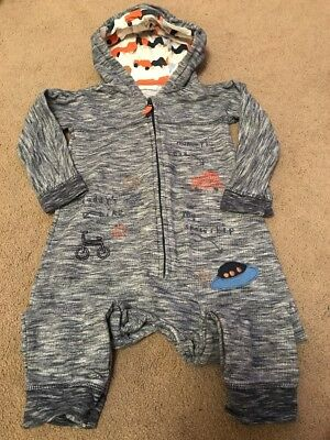 Next Boys Hooded Jumpsuit 18-24 Months