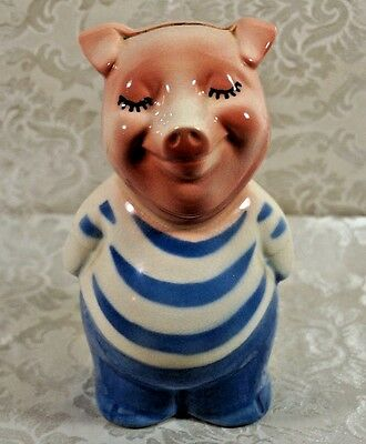 Vintage Shawnee/American Bisque Pig Coin Bank Matches Cookie Jar