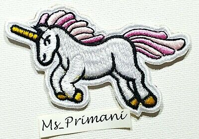 Unicorn Embroidered Sew On Iron On Patch Badge Bag Clothes Fabric Applique