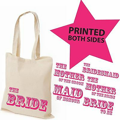 Favour Keepsake Gift Canvas Tote Bag | Wedding Hen Party Personalised Bridal NEW
