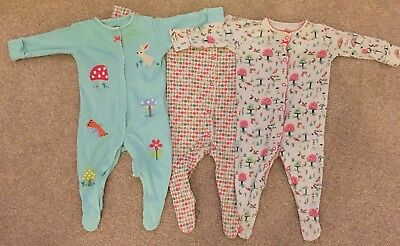 Boys / Girls 3-6 Months Next Long Sleeved Sleep suit Bundle Multi Coloured