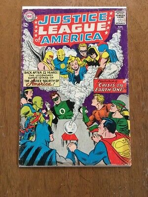 Justice League #21 G/VG (8/63) Crisis on Earth-1 1st JSA crossover!
