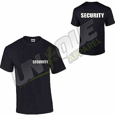 Security T Shirt Top Tee Tshirt Workwear Bodyguard Fancy Dress Doorman Police