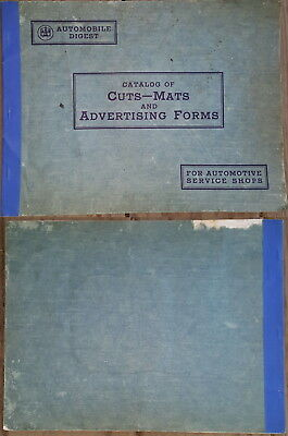 Vintage 1933 Automobile Digest Catalog Of Cuts-Mats And Advertising Forms