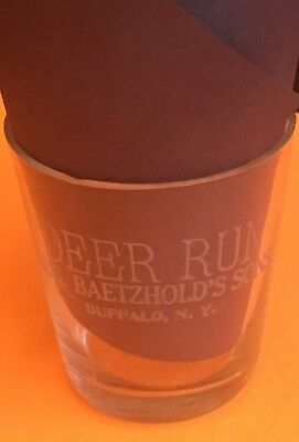 Deer Run Whiskey Pre Pro Shot Glass, Pre Prohibition, Vintage Buffalo Whiskey