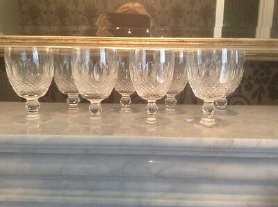Waterford Colleen Watermarked Crystal Glasses Globlets Vintage Original (6 Only)