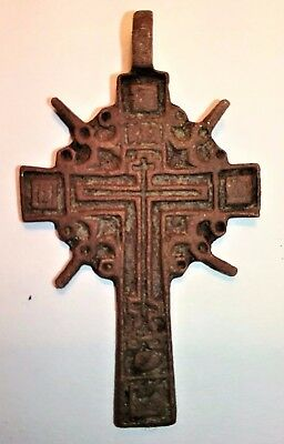 1560-1790  Wearable Medieval Cross Relic  *^* Super Nice Detail *^*
