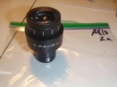 ZEISS MICROSCOPE EYEPIECE - E-PL 10X/20 GOGGLES - 44 42 32 - 2.5X photo recticle