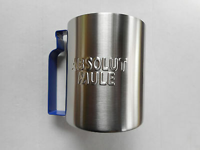 Absolut Vodka Moscow Mule Metal Cups 2 ea NEW