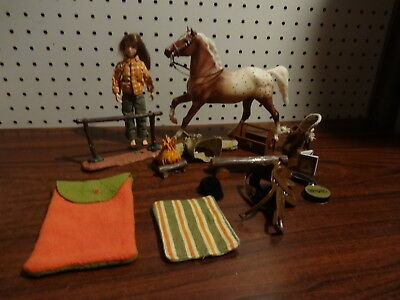 Breyer Camping On The Trail Set With Horse Doll & Accessories