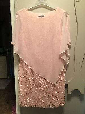 Mother of the bride short dress pink size 16