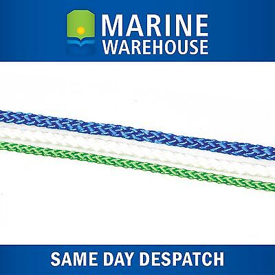 Green VB Cord 3mm X 100M -  Plaited Polyester Rope - Multi Purpose 106295