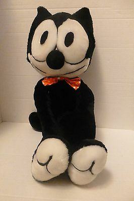 "Felix The Cat Plush Toy With Bow-Tie Collectible 22"" N/TAG"