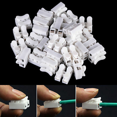 15Pcs Self Locking Electrical Quick Splice Cable Connectors Lock Wire Terminals