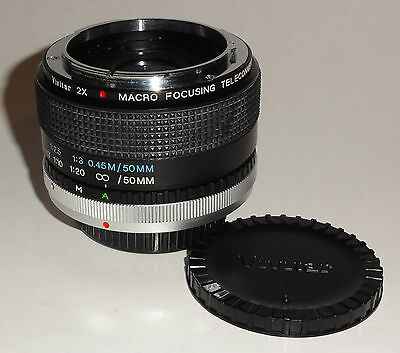 Vivitar 2X Macro Focusing Teleconverter For Canon Fd Mount